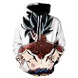 RENEO Camisa de Entrenamiento,Dragon Ball Japanese Anime Sudadera con Capucha Impresa En 3D, Chaquet...