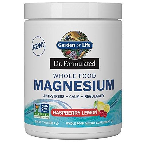 Garden Of Life Dr. Formulado Alimentos Integrales Magnesio en Polvo, Limón de Frambuesa 200 g