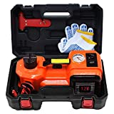 E-HEELP Electric Car Jack 5 Ton 12V Lifting Range 15-45.5cm Electric Hydraulic Jack with Inflator for SUV Tire...