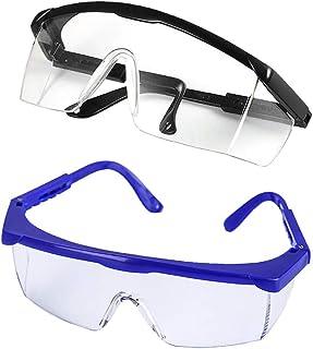 عینک ایمنی چشم پلاستیکی Bonarty 2 Pairs عینک ضد عفونی عینک مخصوص فضای باز