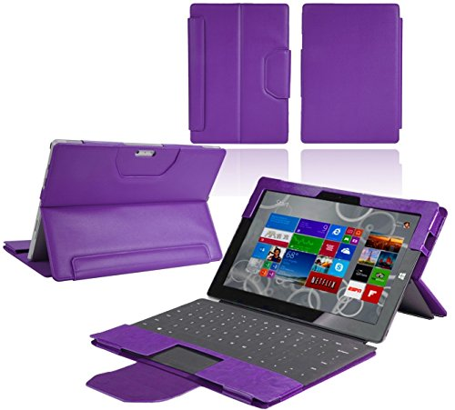 Navitech Custodia Nera in Ecopelle per Microsoft Surface Pro 4