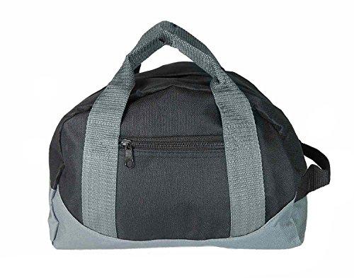 12' Mini Two Tone Duffle Bag (Black-Gray)