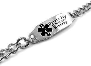 My Identity Doctor - Please Delete My Browser History Medical Alert Bracelet, LOL Gift, Geeky Gadget