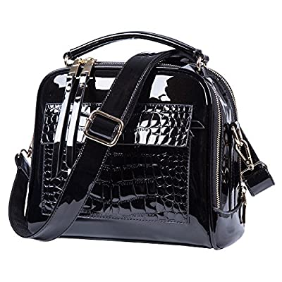 Lucien Hanna Womens Purses and Handbags Crossbody Patent Leather handbags for women Shoulder Bags Tote Bag