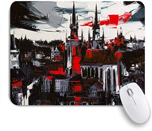 Alfombrilla de ratón, Gris Negro Original Prague Wind Trave