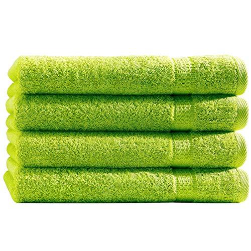 Top Fuel Fashion 4er Pack Handtuch Elegance 28031 50x100 cm Frottier Baumwolle apfelgrün (grün)
