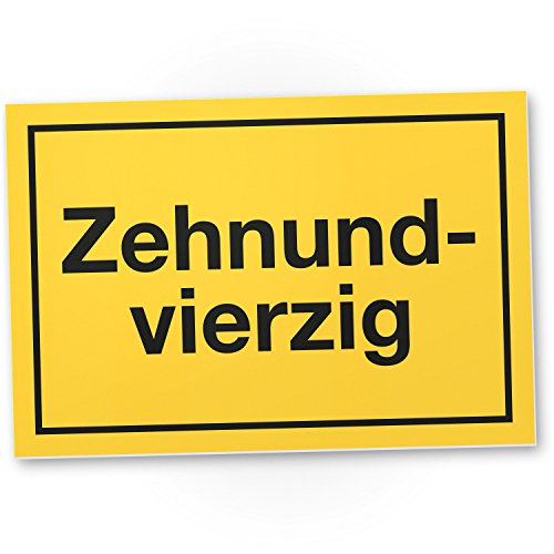 DankeDir! 50 Jahre - Zehnundvierzig Kunststoff Schild - Geschenk 50. Geburtstag Geschenkidee Geburtstagsgeschenk Fünzigsten Geburtstagsdeko Partydeko Party Zubehör Geburtstagskarte
