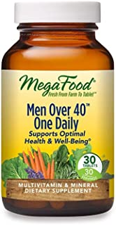 MegaFood, Men Over 40 One Daily, Daily Multivitamin and Mineral Dietary Supplement with Vitamins B, D and Z...