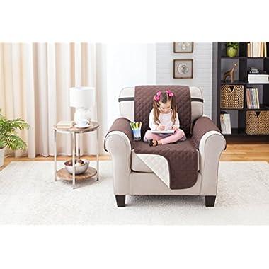 Deluxe Reversible Recliner Furniture Protector, Coffee / Tan 65  x 75