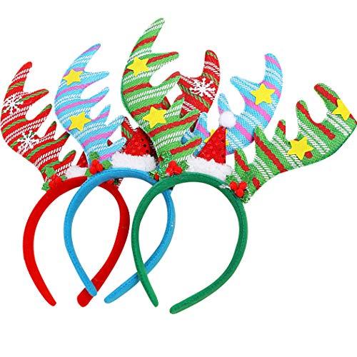 Kapmore haarband 3 stuks Kerstmis hoofdband creatieve Big Antler kostuum hoofdband Party haarband
