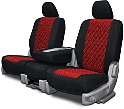 Custom Fit Seat Covers for Mercedes 500SL-600SL Front Low Back Seats - Red Neo-Diamond Fabric