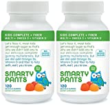 SmartyPants Kids Fiber Complete with No Sugar Added, Multi plus Omega 3 plus Vitamin D, 120 Gummies (2 Pack)