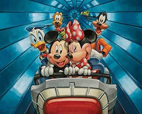 olwonow 1000 Piezas de Rompecabezas para niños 75x50cm Feliz Juego de Juguete de Mickey Mouse Regalo