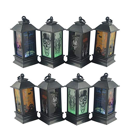 TTYAC Neue Halloween Kürbis Lichter LED Licht Laternen Tragbare Laternen Halloween Veranstaltungsort Arrangement Requisiten Ghost Festival Beleuchtung Hot