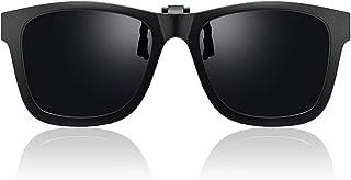 Sponsored Ad - OIIDMAEN Premium Polarized Clip on Sunglasses Over Prescription Glasses, Anti Glare and UV400 Protection, F...