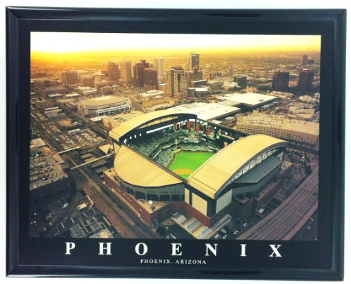 Arizona Diamondbacks Baseball Chase Field Framed Aerial Photo F7571A