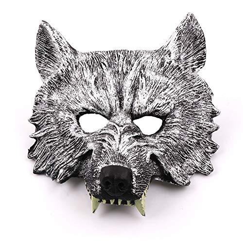 JYSD Halloween-Maske, Tiermaske, Horror Maske, Bar Maske, Wolf-Kopf-Schablonen, Prom Mask MJJ9 / 21 (Color : A)