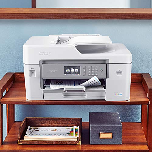 "Brother MFC-J6545DW INKvestmentTank Color Inkjet All-in-One Printer with Wireless, Duplex Printing, 11"" x 17"" Scan Glass and Upto 1-Year of Ink-in-Box, MFC-J6545dw"