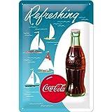 Nostalgic-Art Cartel de Chapa 20x30 cm Coca-Cola - Sailing Boats