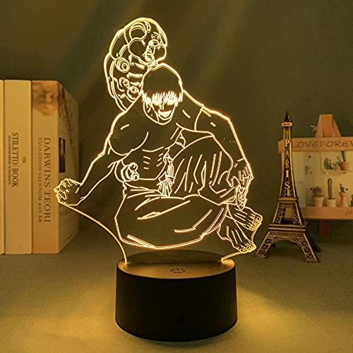 Luz de noche 3D anime para niños, luz LED Jujutsu Kaisen Toji Fushiguro para decoración de dormitorio Jujutsu Kaisen Lámpara de acrílico decoración de habitación para regalo de cumpleaños