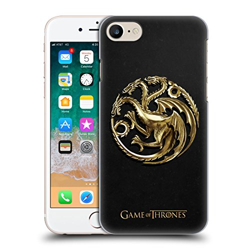 Head Case Designs Oficial HBO Game of Thrones Targaryen Oro Embossed Sigils Carcasa rígida Compatible con Apple iPhone 7 / iPhone 8 / iPhone SE 2020