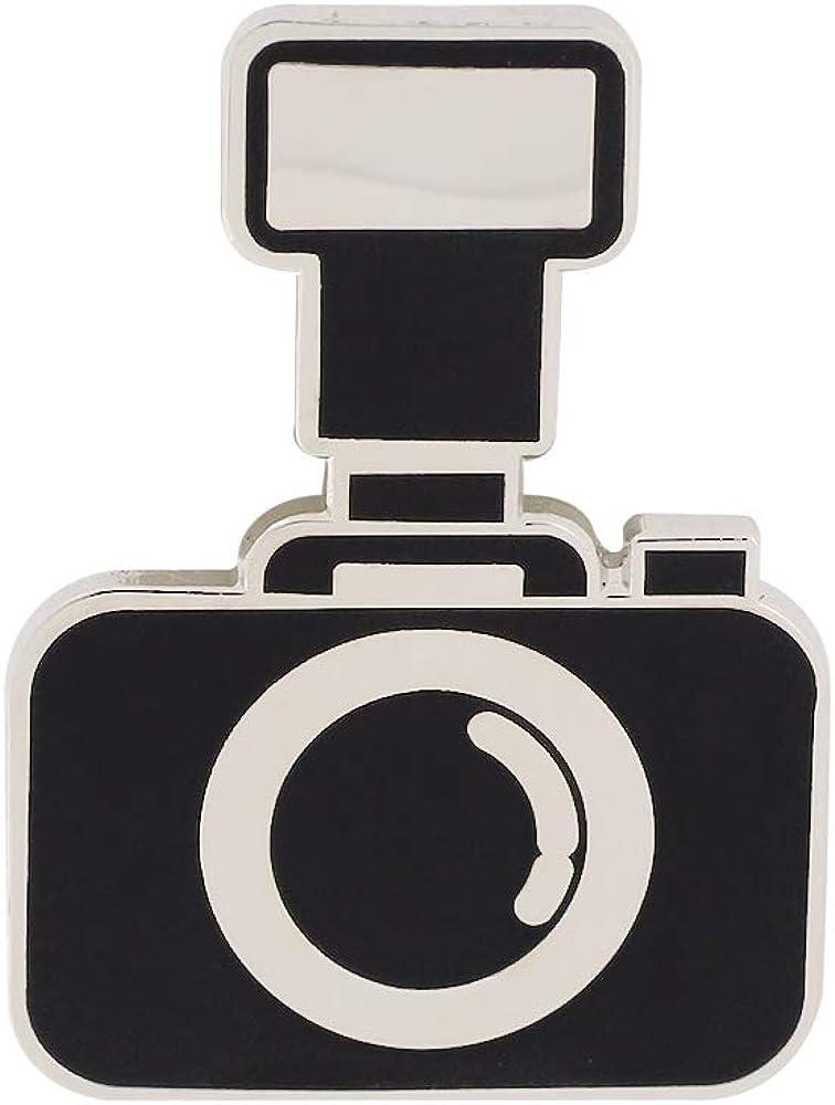 Black Camera Lapel Pin- 1 Piece