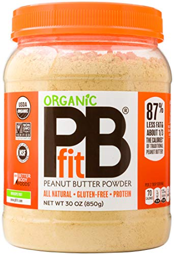 PBfit All-Natural Organic Peanut Butter Powder, Powdered Peanut Spread from Real Roasted Pressed...