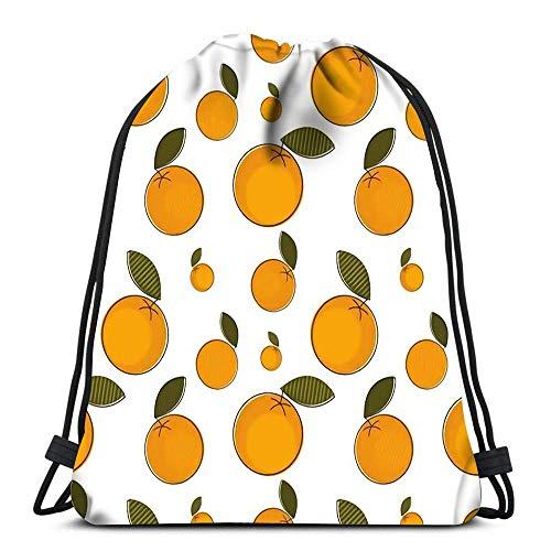 WH-CLA Unisex Drawstring Backpack,Orangen-Geschenkpapier, Das Auf Stoff Druckt Verstellbar Kordelzug Rucksack Damen Herren Rucksack Beutel Tasche Sport Tunnelzug Gymsack Für Schule Schwimmen Reisen