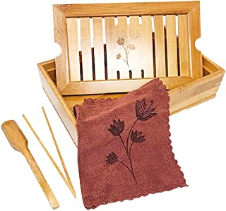 Bamboo Chinese Gongfu Tea Tray Table Box Set by Trademark Innovations
