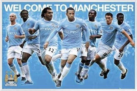 MDF - Manchester United 91 x 61cm Old Trafford 17-18 1art1 Football Poster et Cadre