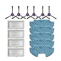 ロボット掃除機部品 真空部の取り替えの掃除機のサイドブラシフィルターモップの布フィットMidea VCR08 MR09ロボット掃除機の部品ブラシフィルタークロスの交換キット (Color : Set 1)