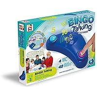 Chicos- Bingo Electrónico Lotería Parlante con 48 cartones, 13 x 7.5 x 4 cm, incluye fichas de juego, Multicolor (Fábrica de Juguetes 22409)