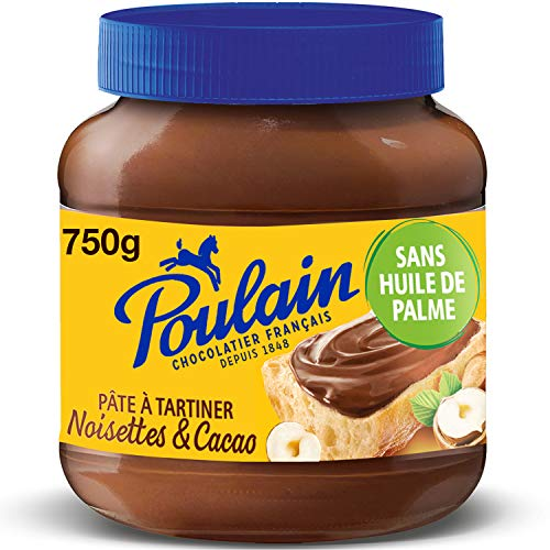 Poulain Chocolat Pâte à Tartiner Cacao Noisettes, 750g