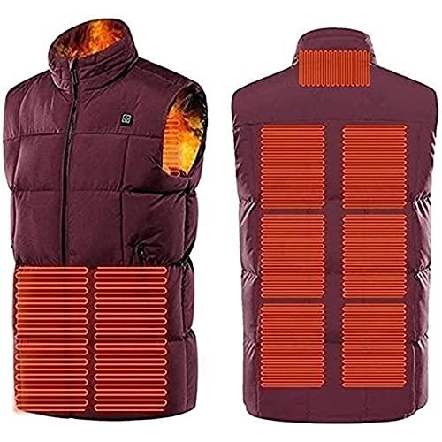 SKYWPOJU Chaleco calefactable para Hombre/Mujer, 3 Niveles de Temperatura Chaqueta con calefacción eléctrica USB, tamaño Ajustable, Impermeable y Lavable, Abrigos Calientes de Invierno para la Caza