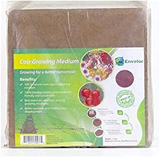 Envelor Home and Garden 10 Lbs. Organic Coco Block Coir Brick Coconut Fiber Growing Medium Potting Soil Mix Coco Peat Media Coir Pith Indoor Outdoor Planters Raised Vegetable Garden Beds Greenhouses