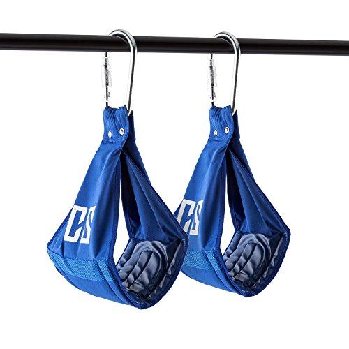Capital Sports Armlug - Armschlaufen, AB Slings, Bauchtrainingsschlaufen, Schlaufentrainer, Bauch- und Ganzkörpertraining, Auflage: 19 cm, weich gepolstert, Tragkraft: max. 120 kg, blau
