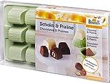 Birkmann 1010727210 Pralinen-und Schokoladenförmchen Schatztruhe, Kunststoff, Grau, 5 x 3 x 2 cm