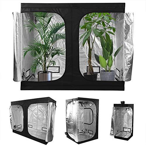 Cámara de cultivo hidropónico, tienda de cultivo interior, frutas y verduras en apartamento, 600 D Oxford (120 x 120 x 200 cm)