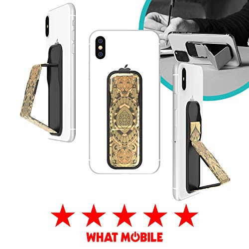 CLCKR Phone Stand Multi Viewing Modes Compatible with Universal Devices Including iPhone 11/11 Pro/X/XS/XR Samsung Galaxy S8/S9/S10 and Many More - Gold Pattern