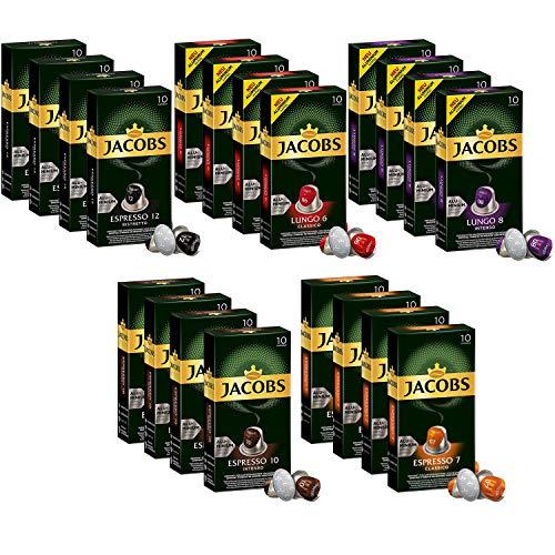 Jacobs Aluminium Nespresso® * Kompatible Kaffeepads - 20 Packungen mit 10 Kapseln (200 Getränke)
