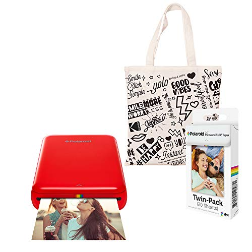 Polaroid Zip Wireless Photo Printer (Rood) Starter Kit met tas