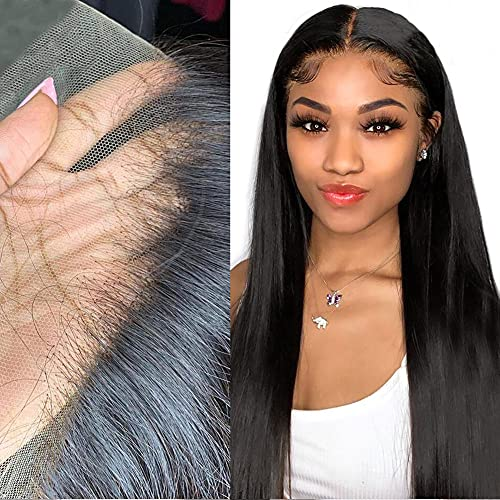 13x6 Undetectable Lace Front Wigs Human Hair HD Transparent Lace Wig 150% Density Silky Straight Hair Glueless Lace Front Wigs Pre-Plucked With Baby Hair for Black Women (20 Inch).