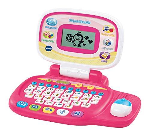 Vtech- Pequeordenador Juego Interactivo para Niños, Color rosa, única (80-155457)