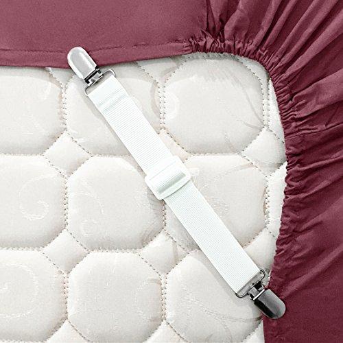 4er Verstellbare Bettlaken Spanner Bettlakenspanner Betttuchspanner Spannbettlakenhalter