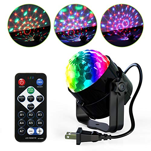 Disco Ball Strobe Lights-TENKOO Party Lights Sound Activated Storbe Light with Remote Control DJ Lighting,Strobe Lamp 7 Modes Stage Par Light for Home Room Dance Parties Bar Karaoke Xmas Wedding
