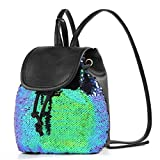 yisi Flip Sequins Mini Backpack Small Backpack Purse for Teen Girls Gift for School St. Patrick's Day, Green