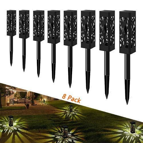 Solar Garden Lights, Outdoor Waterproof Solar Garden Lights, Garden Decoration Lights, Lawn Landscape Lights, Automatic on/Off from Dusk to Dawn, Warm White. 8 Packs