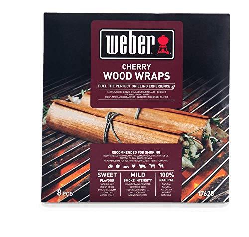 Weber 17628 Wood Wraps aus Kirschholz, 8 Stück, Räuchern, Aroma