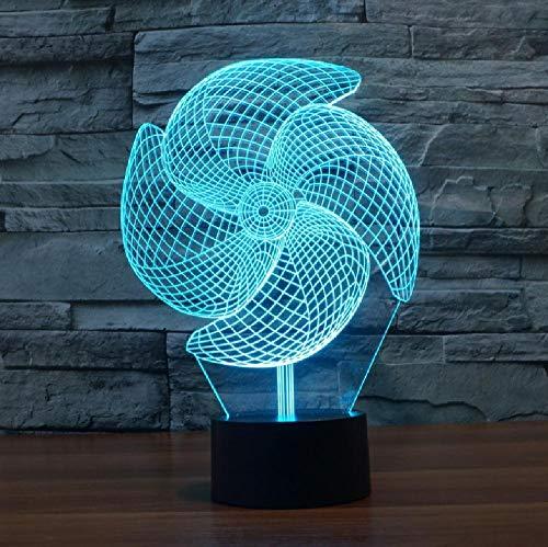 Lámpara De Gran Molinete 3D, 7 Colores, Carga Táctil, Regalo Visual Led, Luz Nocturna Led, Luminaria De Mesa, Luz De Habitación Para Niños