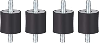 uxcell ゴム製振動マウント ゴム製 ブラック エアコンプレッサーボビンアイソレータダンパー D20 x H20 M5 x11mmスタッド 4個入り